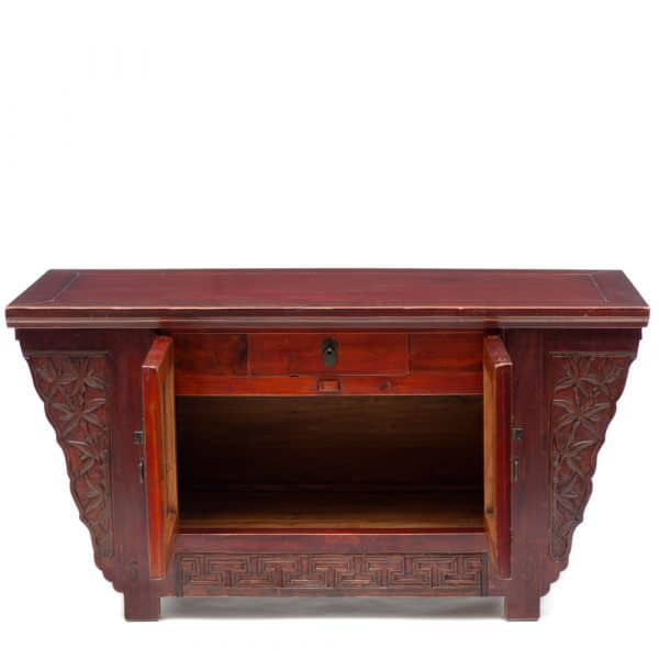 Low cabinet with bamboo motifs