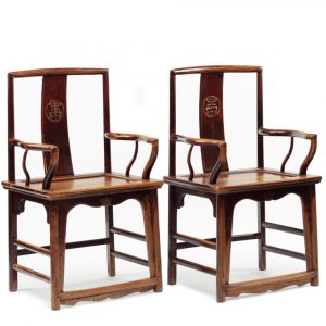 armchairs with long life medallion