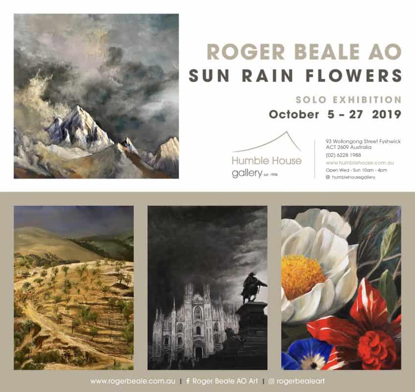 Roger Beale Sun Rain Flowers Exhibiton