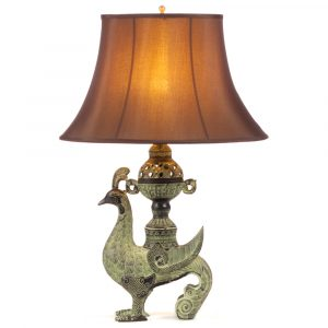 Mythical bird bronze table lamp