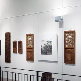 Antique Chinese window panels