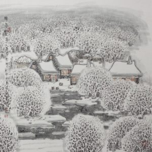 Heavy snow means a good harvest by Li Xinsheng