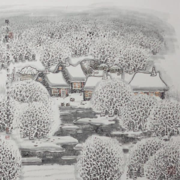 Heavy snow means a good harvest by Li Xinsheng