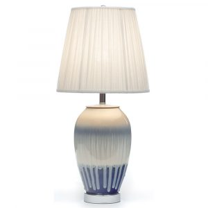 White lava porcelain table lamp