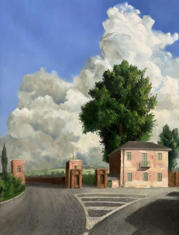 Gate House Italy, Oil on Canvas, 2019