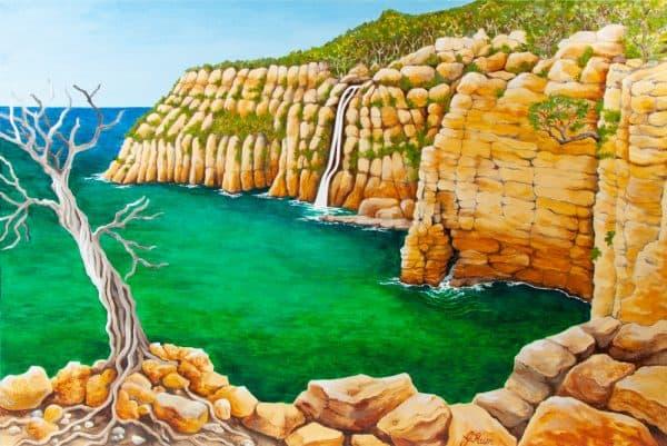 Waterfall Bay - Tasman Peninsula by Geraldine Hum