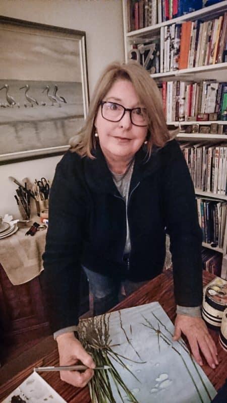 Artist PJ Smith in her studio