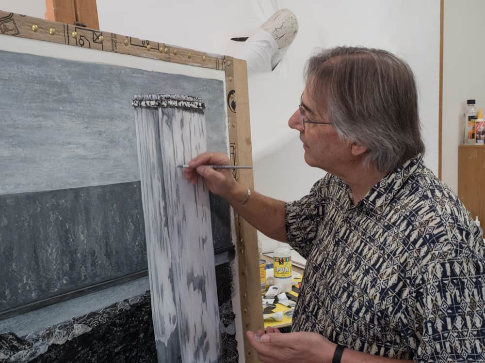 Artist Petros Papoulis in his studio, Canberra