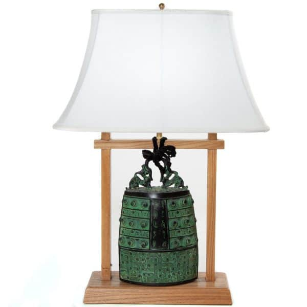Bronze bell table lamp