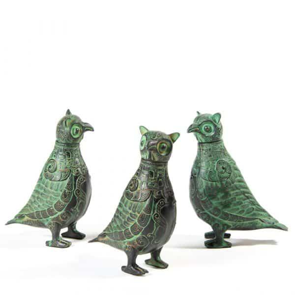 Bronze owls