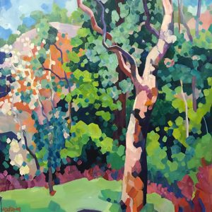 Painting Trees in Paradise Park by Mellissa Read-Devine