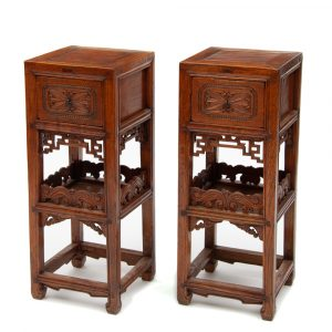 Single drawer tea stands