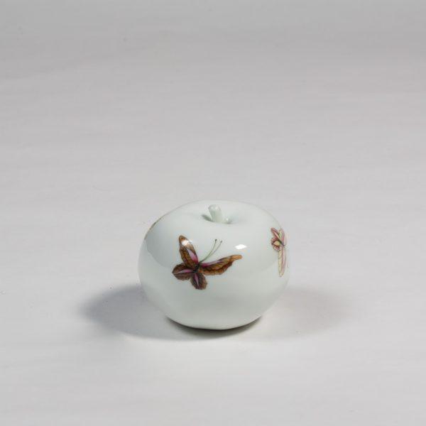 Butterflies porcelain apple by Diana Williams