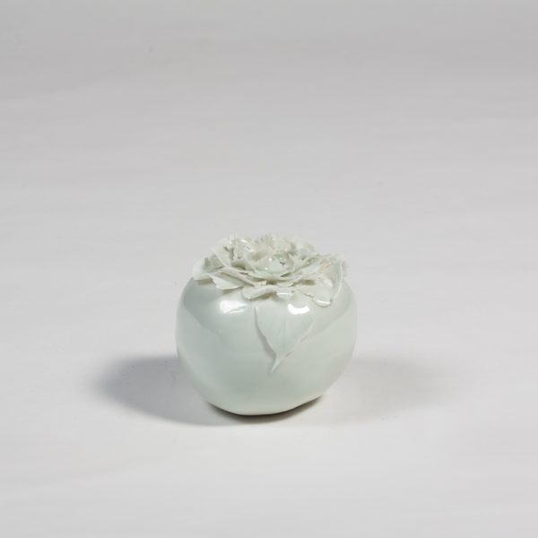Camellia Flower porcelain apple by Diana Williams