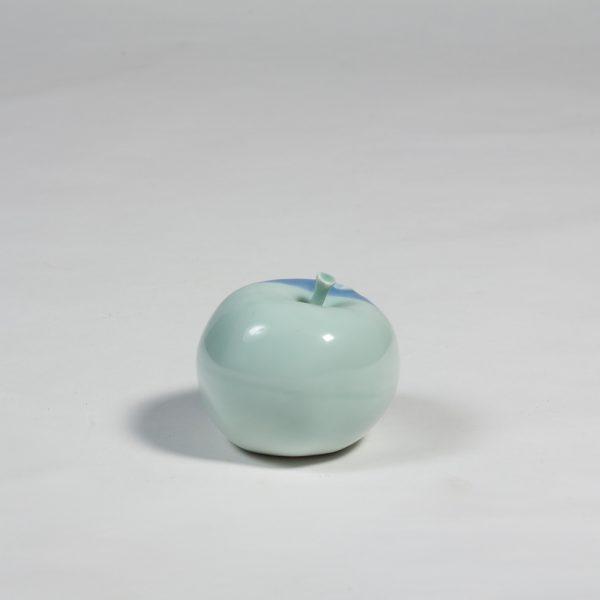 Lotus Garden porcelain apple by Diana Williams