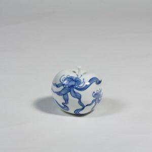 Waratah porcelain apple by Diana Williams