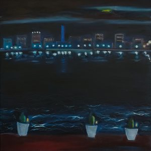 Canberra Night from the Boathouse by Jennifer Baird