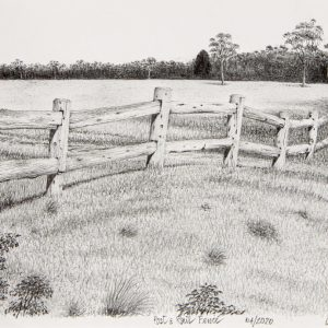 Post and Rail Fence by Grahame Crocket