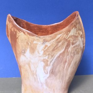 Elena Bozhko Marshall OZ . Red continent. Mixed clays. Glaze. 20sm l x 10 am w 24 am h 2021.front