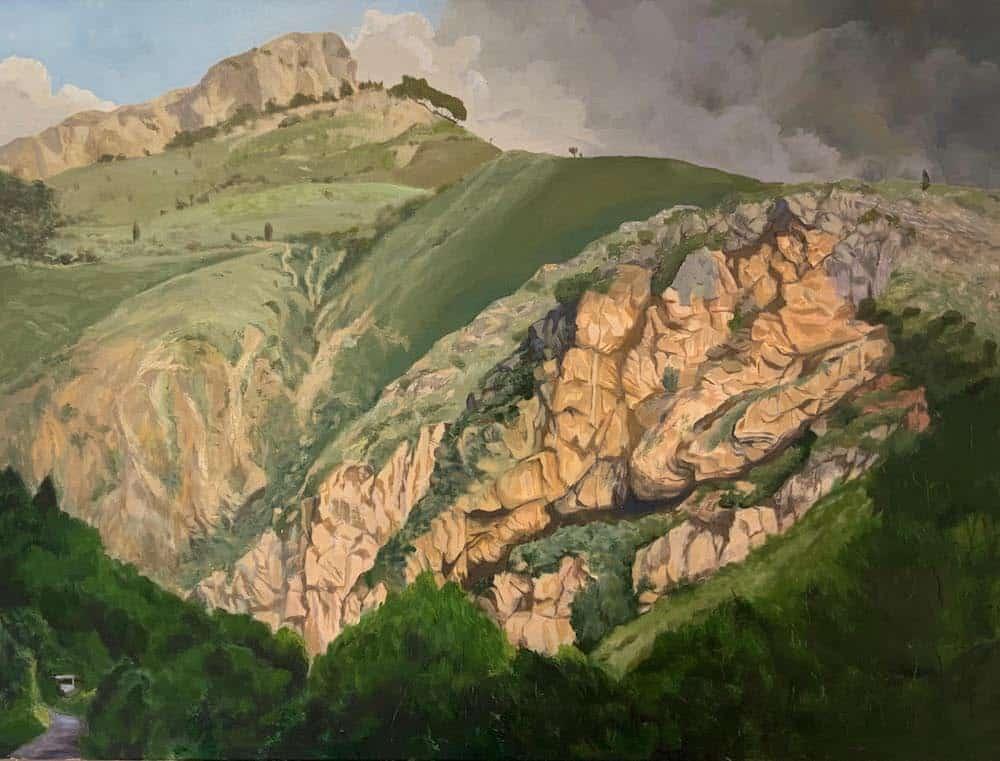 Roger Beale AO_Sicily - Near Taormina - a large oil
